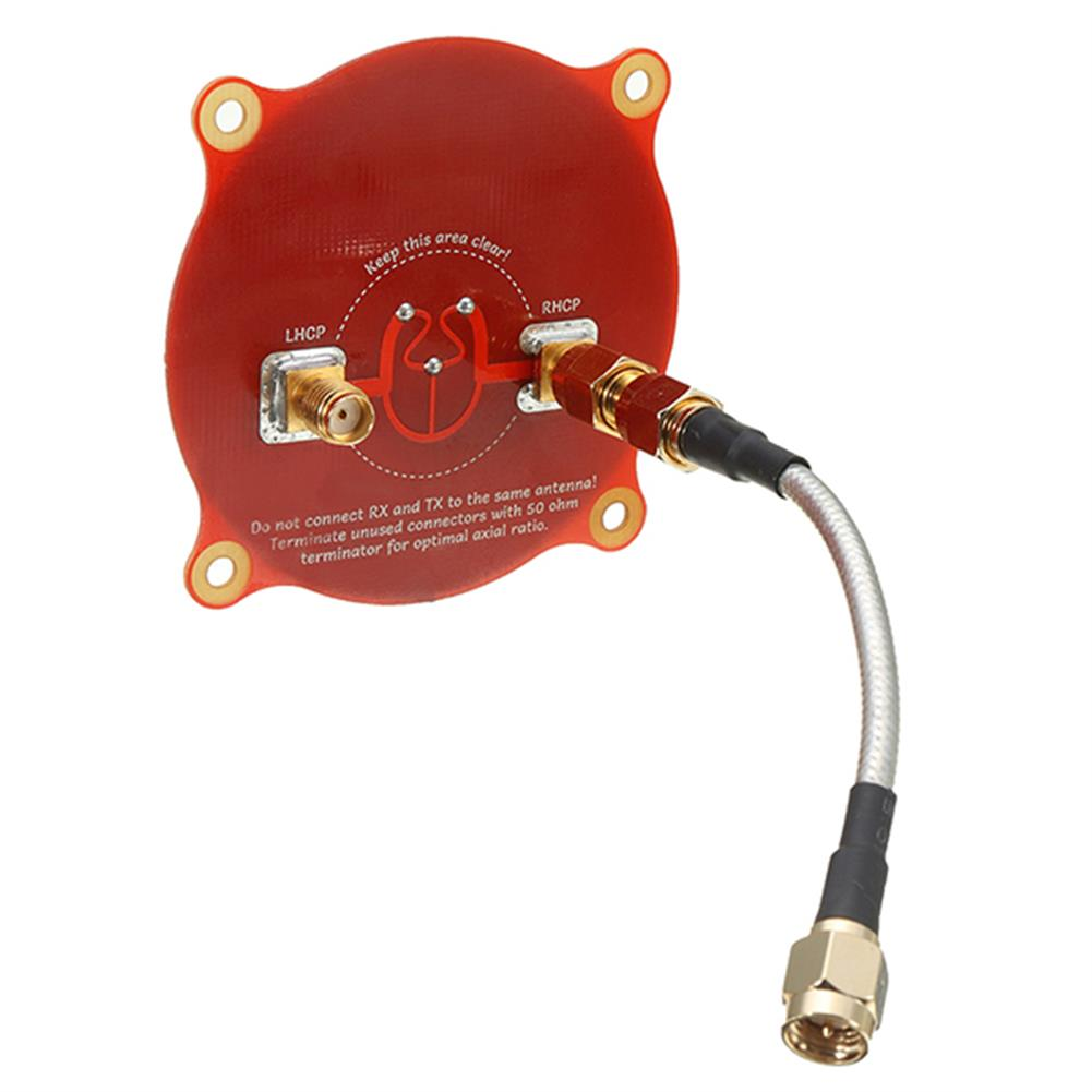 fpv-system Realacc Triple Feed Patch-1 5.8GHz 9.4dBi Directional Circular Polarized FPV Pagoda Antenna RC1195261