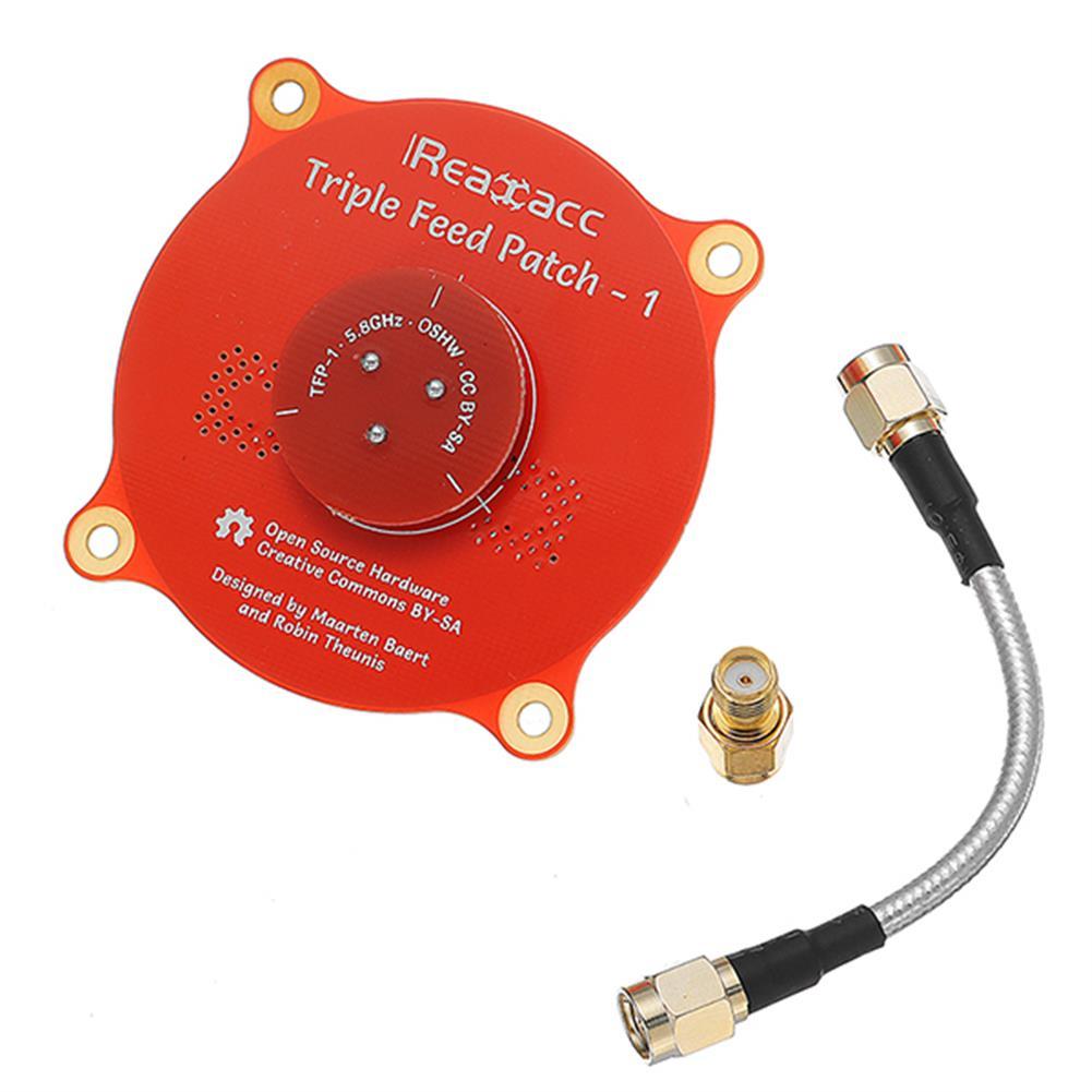 fpv-accessories Realacc Triple Feed Patch-1 5.8GHz 9.4dBi Directional Circular Polarized FPV Pagoda Antenna RC1195261 2