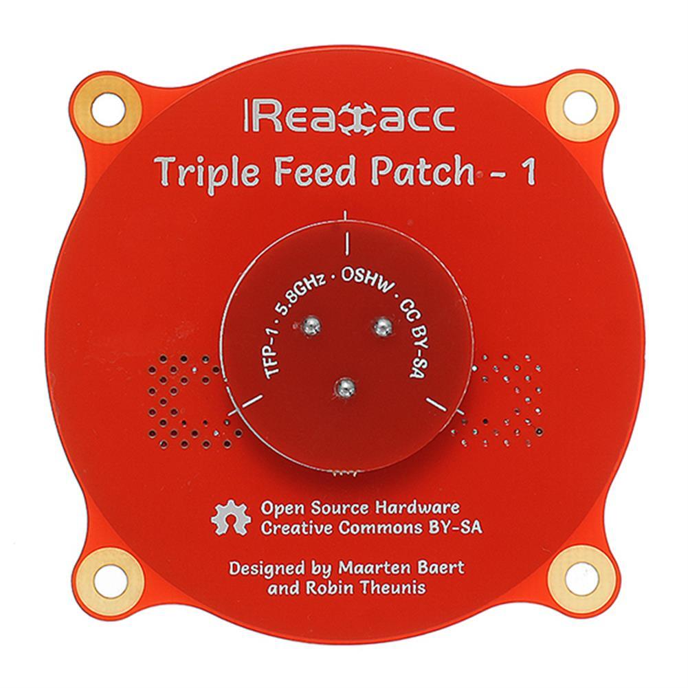 fpv-accessories Realacc Triple Feed Patch-1 5.8GHz 9.4dBi Directional Circular Polarized FPV Pagoda Antenna RC1195261 3