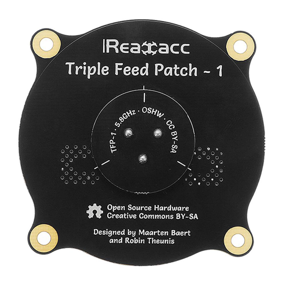fpv-accessories Realacc Triple Feed Patch-1 5.8GHz 9.4dBi Directional Circular Polarized FPV Pagoda Antenna RC1195261 5