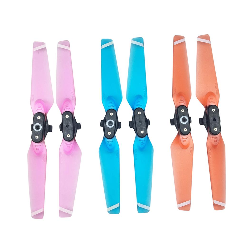 rc-quadcopter-parts 1 Pair Quick Release Folding Propellers Colorful Transparent Clear Blades For DJI Spark RC Drone RC1201526