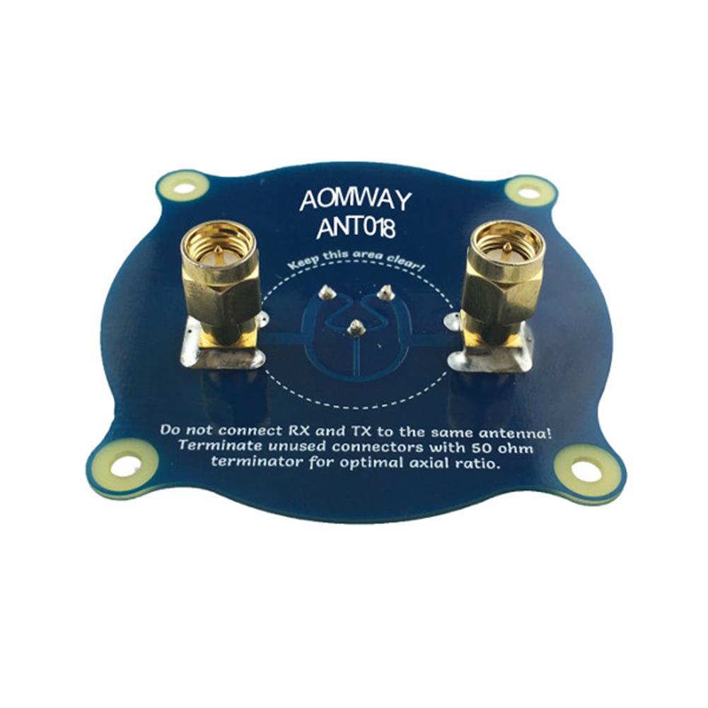 fpv-accessories Aomway ANT018 Triple Feed Patch-1 5.8G 8dBi RHCP/LHCP FPV Pagoda Antenna SMA/RP-SMA Male RC1208594 3