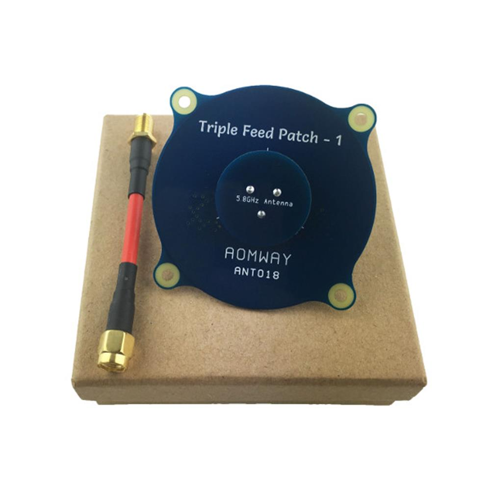 fpv-accessories Aomway ANT018 Triple Feed Patch-1 5.8G 8dBi RHCP/LHCP FPV Pagoda Antenna SMA/RP-SMA Male RC1208594 4