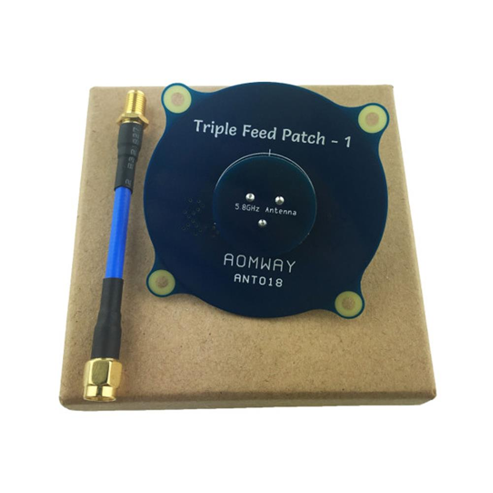 fpv-accessories Aomway ANT018 Triple Feed Patch-1 5.8G 8dBi RHCP/LHCP FPV Pagoda Antenna SMA/RP-SMA Male RC1208594 5