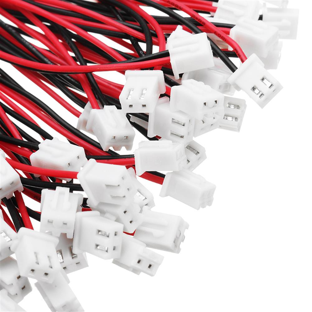 connector-cable-wire 50PCS 150/200/250mm XH2.54mm 2P Male Terminal Block Connector Cable RC1218525 2