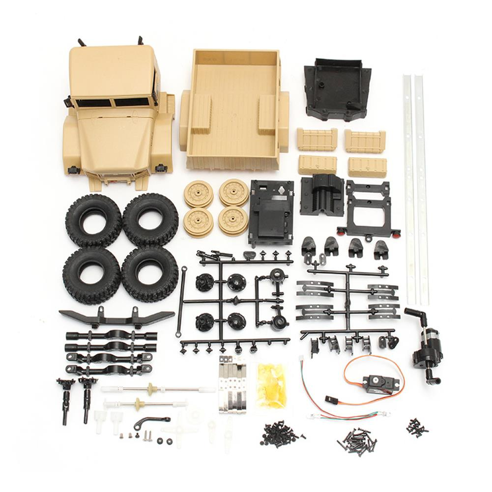 rc-cars WPL B-1 DIY Car Kit 1/16 2.4G 4WD RC Crawler Off Road Car Without Electronic Parts ATR RC1224707 4
