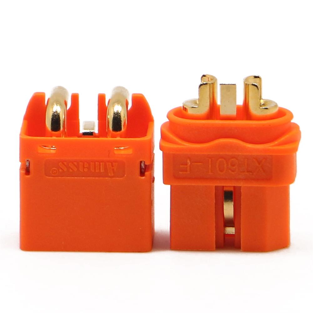 connector-cable-wire AMASS XT60I-F XT60IPW-M Connector Plug with Sheath Housing for BattGo Smart Lipo Battery RC1225557