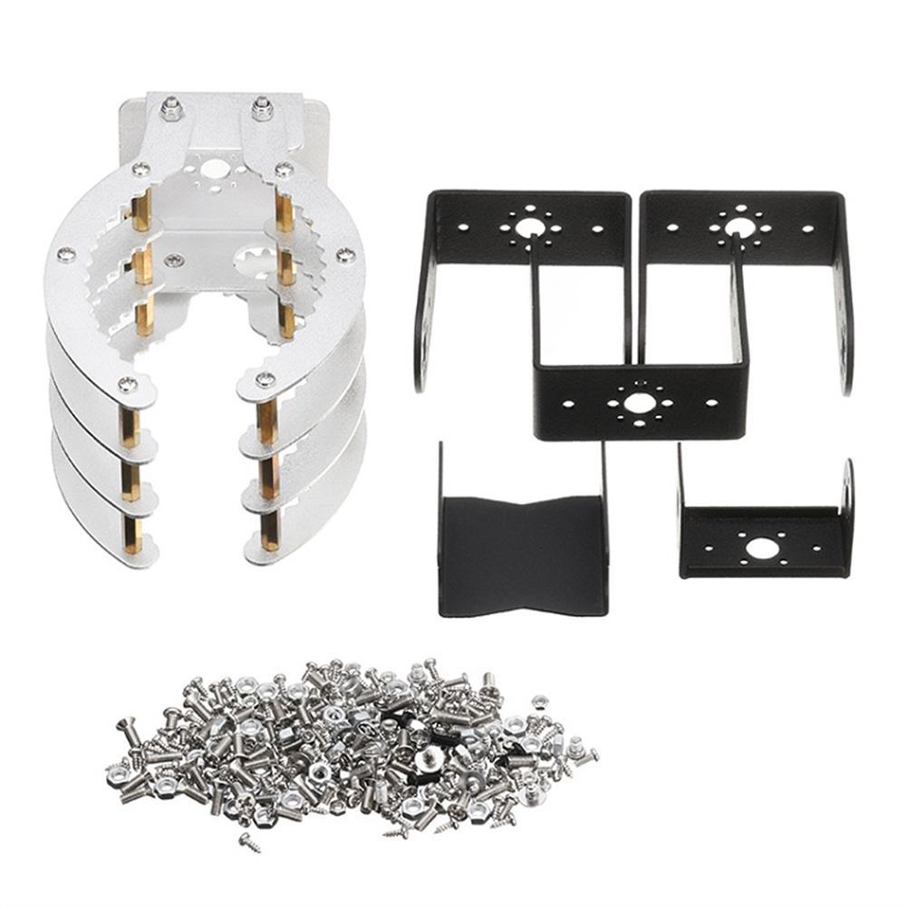 robot-arm-tank 4DOF Mechanical Arm Manipulator Robot Arm Claw Metal Holder Bracket Kit Digital with Servo RC1225565 3
