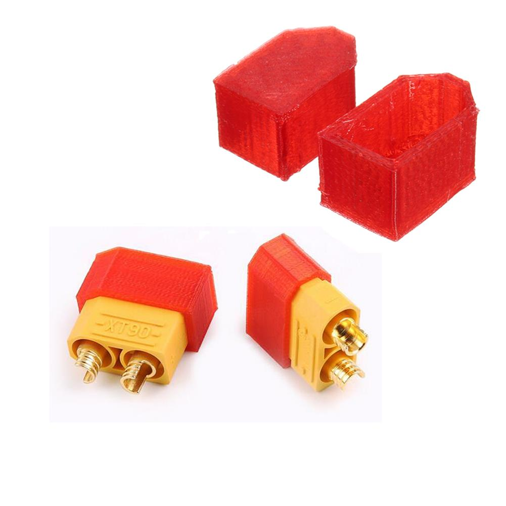 connector-cable-wire 2Pcs AMASS XT60 XT90-S Anti-spark TPU Plug Protect Cover 3D Printing for RC Model Cable RC1234886