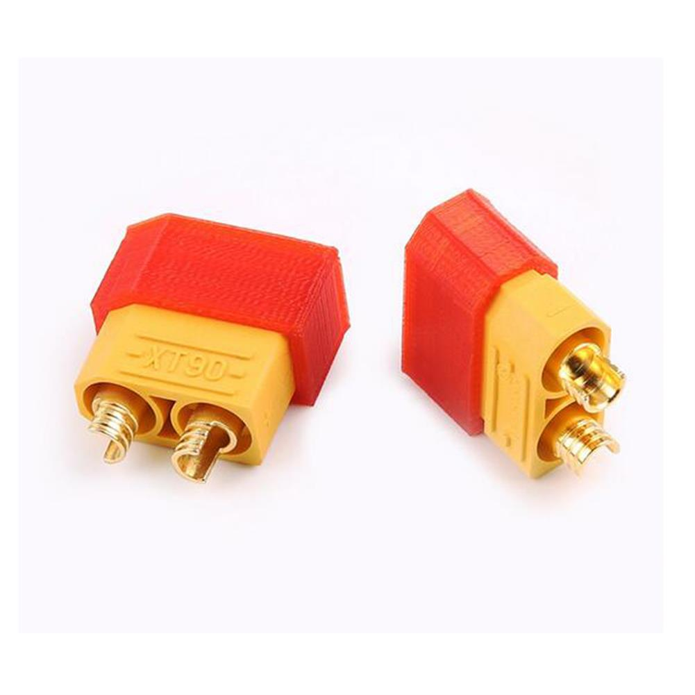 connector-cable-wire 2Pcs AMASS XT60 XT90-S Anti-spark TPU Plug Protect Cover 3D Printing for RC Model Cable RC1234886 2