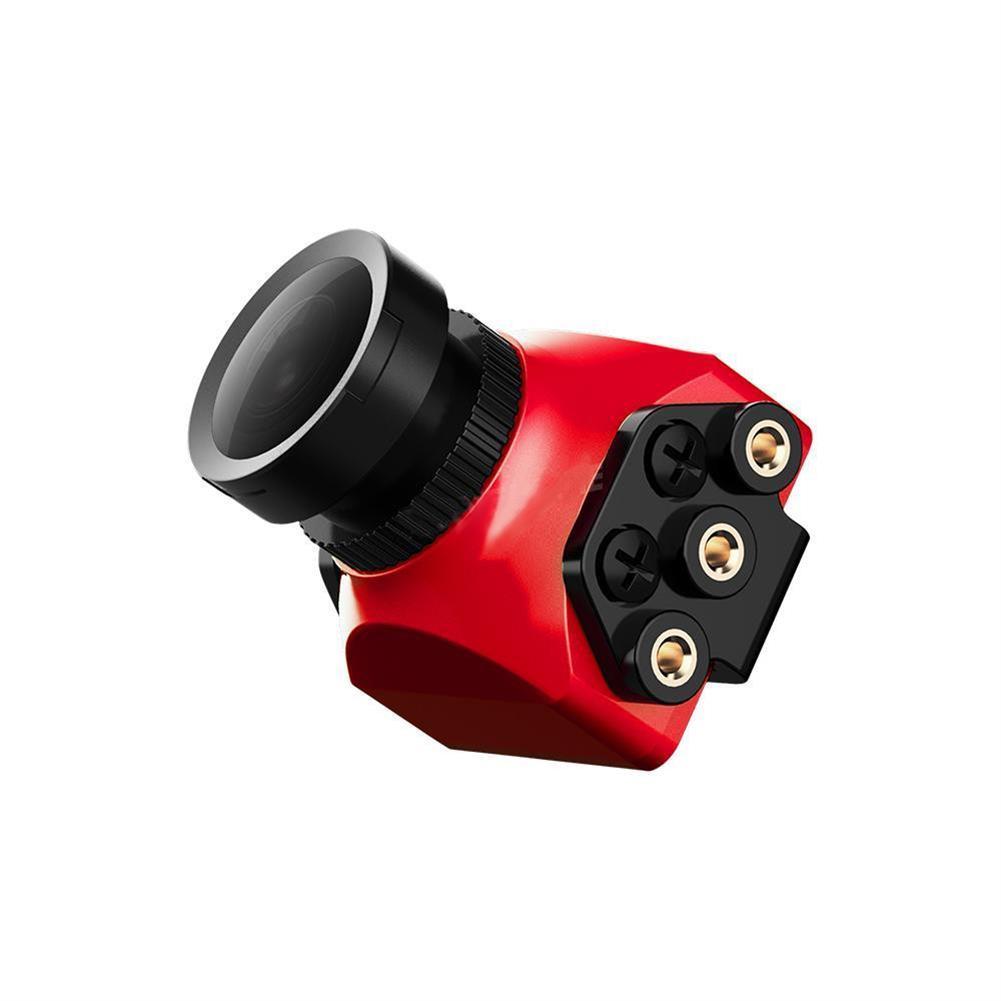 fpv-system Foxeer Arrow Mini Pro 2.5mm 650TVL 4:3 WDR FPV Camera Built-in OSD With Bracket NTSC/PAL Black/Red RC1240000