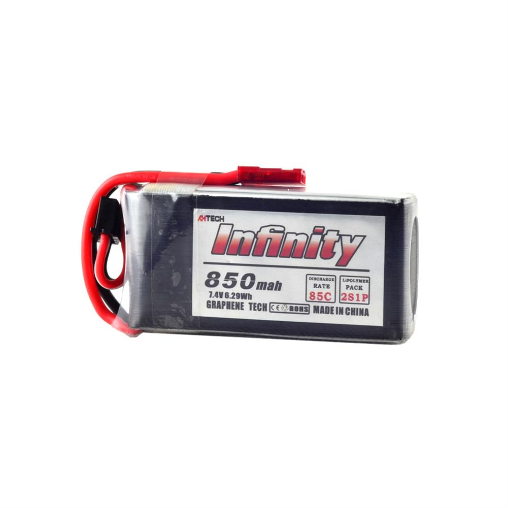 batteries AHTECH Infinity 2S 7.4V 850mAh 85C Graphene LiPo Battery JST XT30 for RC Drone FPV Racing RC1242953