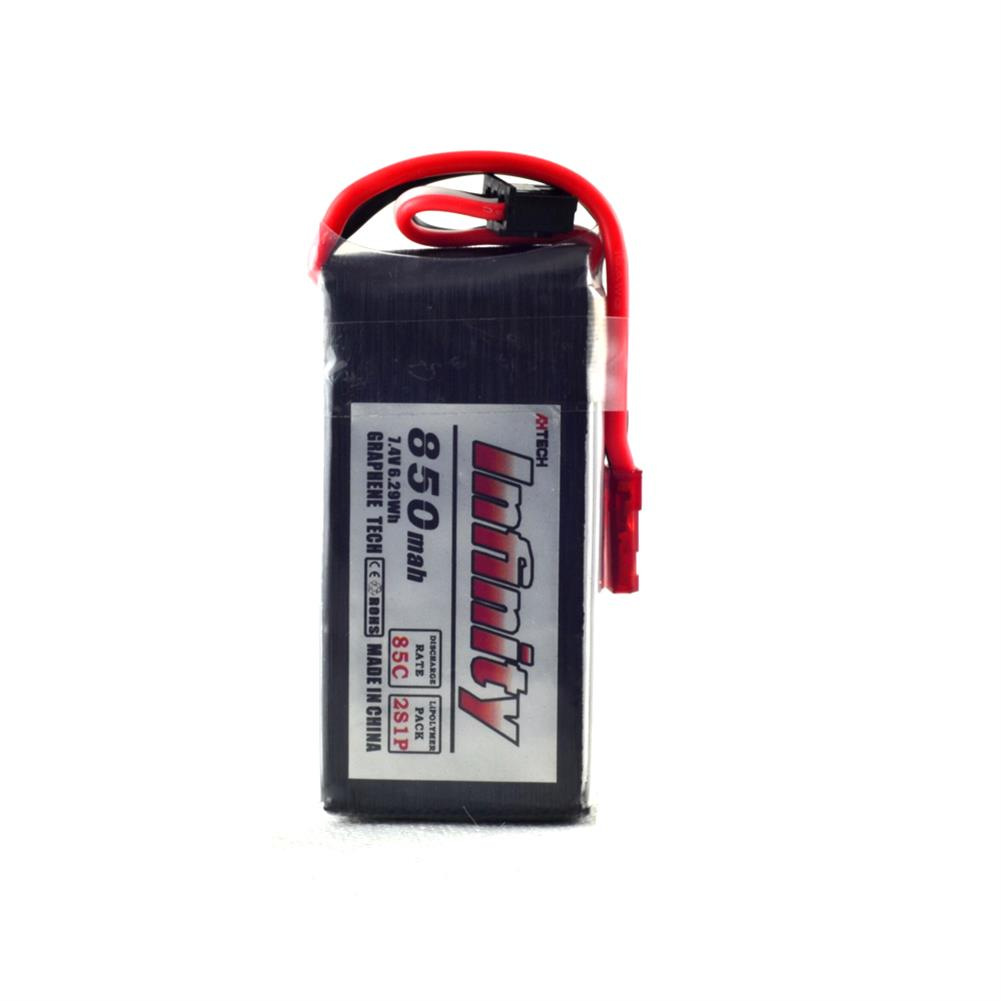 batteries AHTECH Infinity 2S 7.4V 850mAh 85C Graphene LiPo Battery JST XT30 for RC Drone FPV Racing RC1242953 1