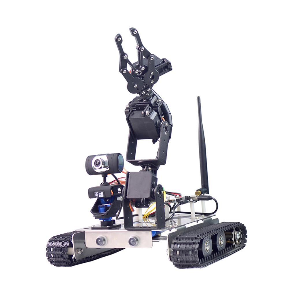 robot-arm-tank Xiao R GFS DIY Wifi Robot Arm Car Metal Chassis Arduino2560 RaspberryPi 3B+ Board RC1249958 1