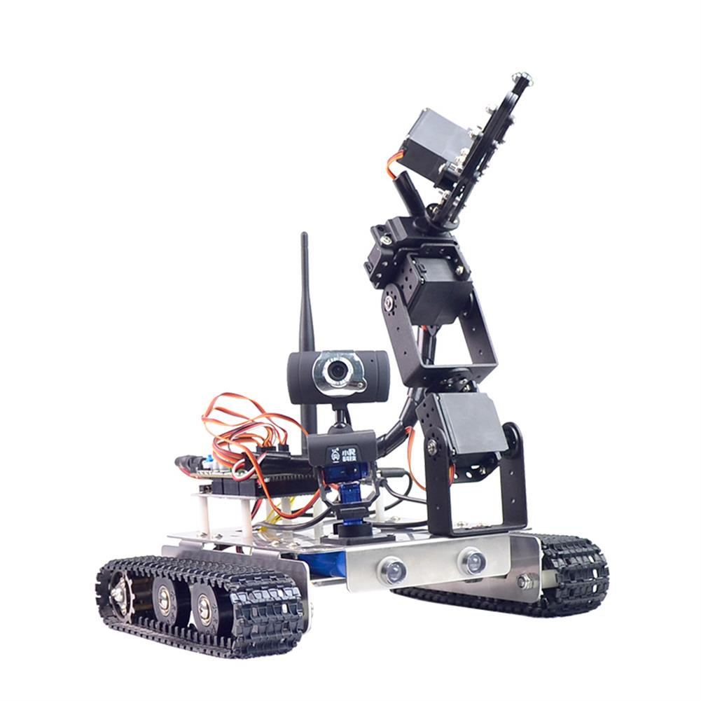 robot-arm-tank Xiao R GFS DIY Wifi Robot Arm Car Metal Chassis Arduino2560 RaspberryPi 3B+ Board RC1249958 2