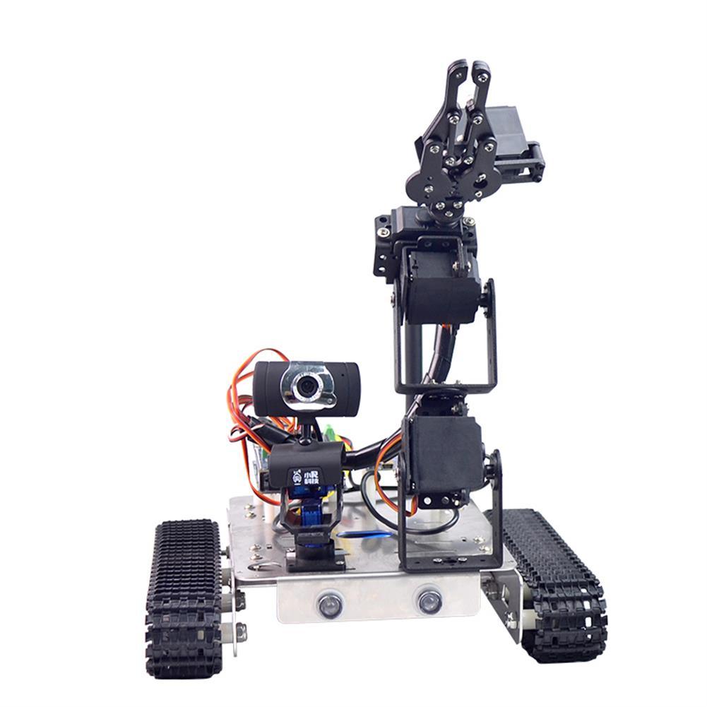 robot-arm-tank Xiao R GFS DIY Wifi Robot Arm Car Metal Chassis Arduino2560 RaspberryPi 3B+ Board RC1249958 3