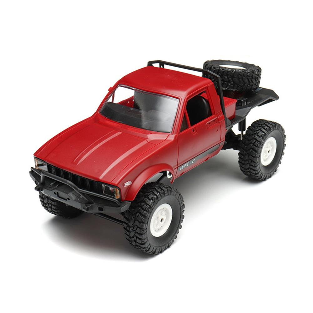 rc-cars WPL C14 1/16 2.4G 4WD Off Road RC Military Car Rock Crawler Truck With Front LED RTR Toys RC1251046 7