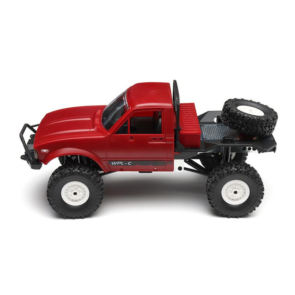 rc-cars WPL C14 1/16 2.4G 4WD Off Road RC Military Car Rock Crawler Truck With Front LED RTR Toys RC1251046 8
