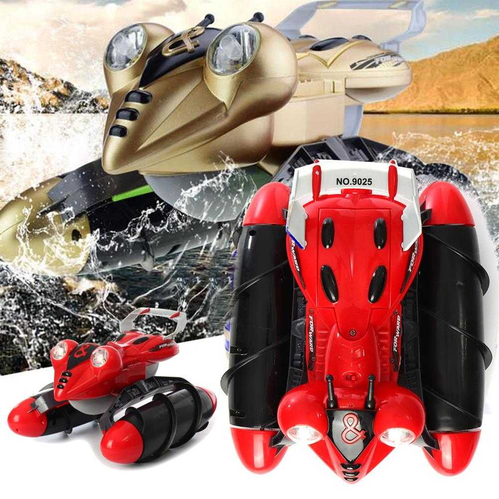rc-cars LX 1/14 9025 2.4G 4WD RC Car Amphibious StuntWith Light All-Terrain Off-Road Waterproof Truck Toys RC1252352