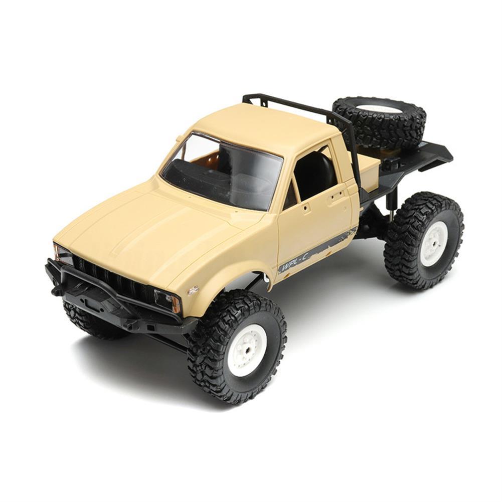 rc-cars WPL C14 2.4G 1/16 Four Drive Climber RC Car KIT With Servo Motor RC1254503 1