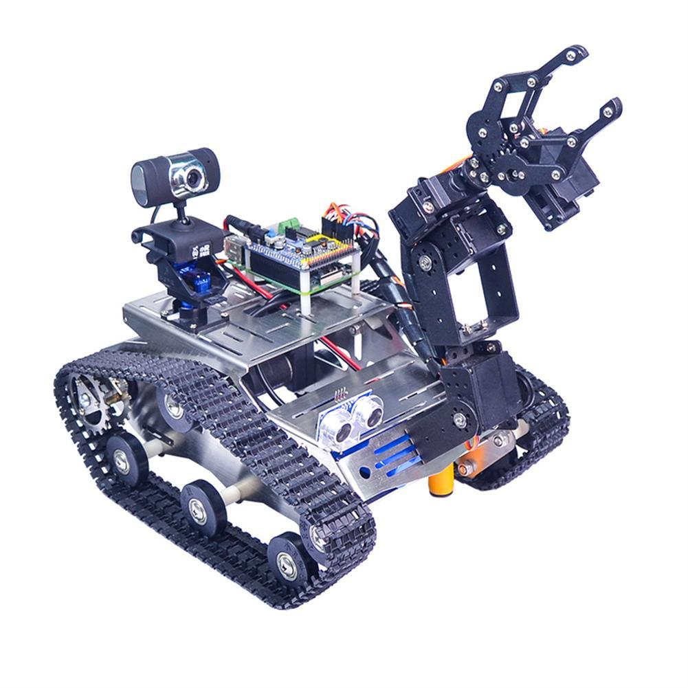 robot-arm-tank Xiao R WiFi Video Robot Arm Car with Gimbal Camera Raspberry Pi 3B+ Built-in bluetooth Wifi Module RC1257247