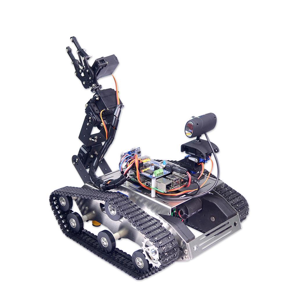 robot-arm-tank Xiao R WiFi Video Robot Arm Car with Gimbal Camera Raspberry Pi 3B+ Built-in bluetooth Wifi Module RC1257247 2