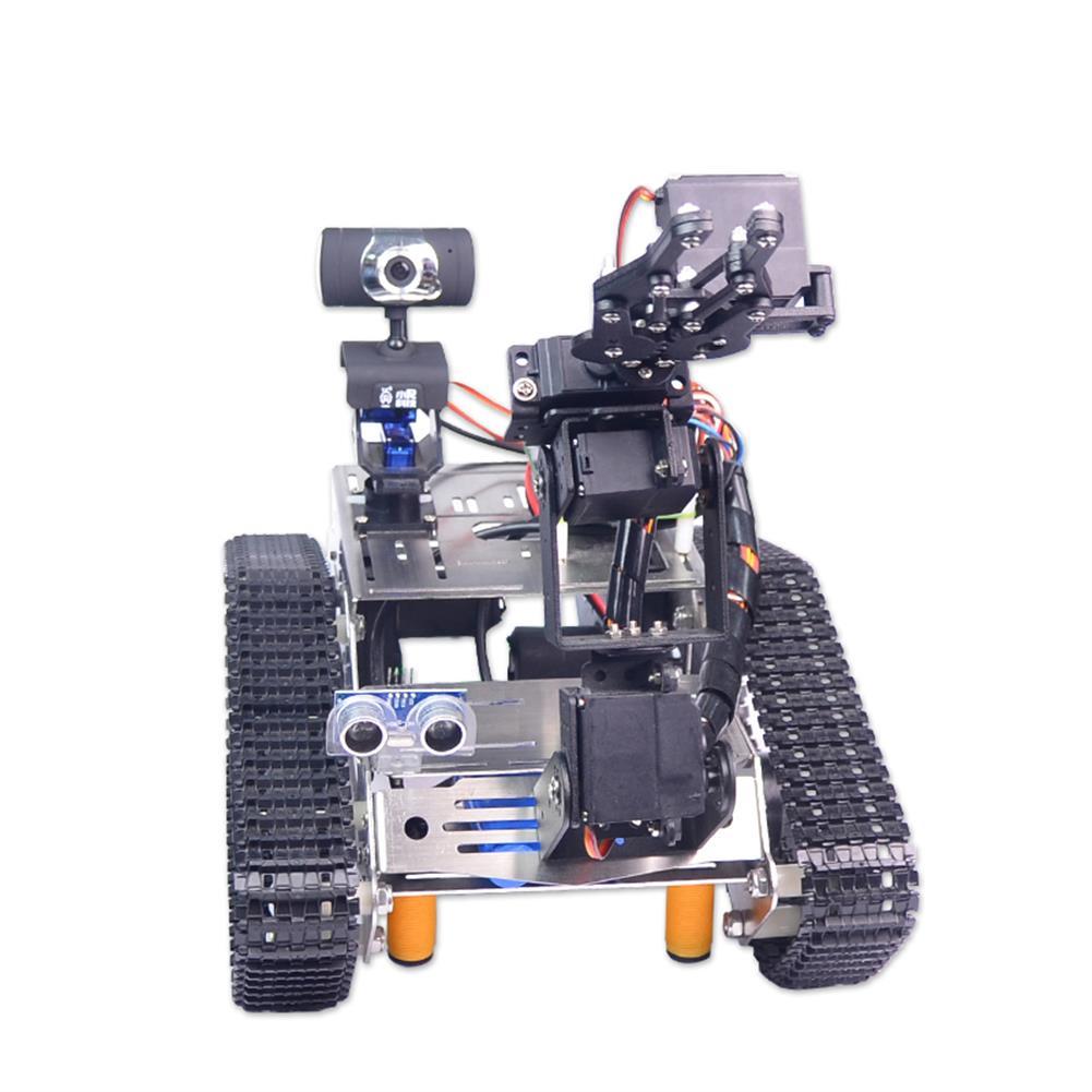 robot-arm-tank Xiao R WiFi Video Robot Arm Car with Gimbal Camera Raspberry Pi 3B+ Built-in bluetooth Wifi Module RC1257247 3