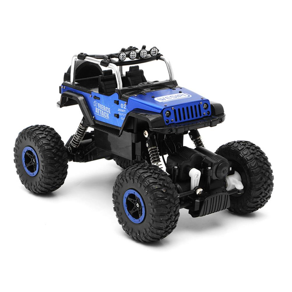 rc-cars WESIPI 3053R 1/18 2.4G 4WD Hummer RC Car Rock Crawler Off-Road RTR Vehicles W/ LED Light Toy RC1264129 4