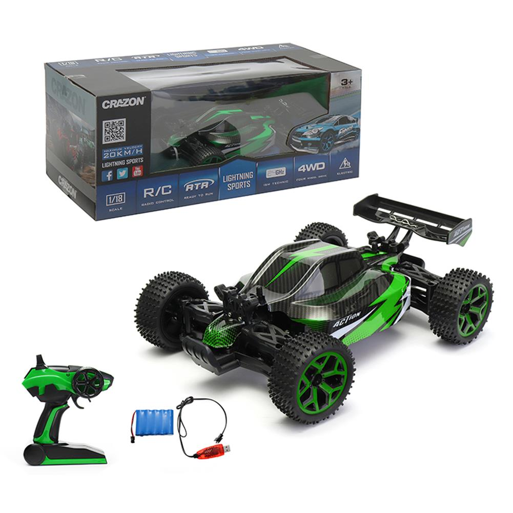 rc-cars Crazon 17GS06B 2.4G 4WD 1/18 Remove Control Off Road Crawler Buggy RC Car RC1279050 2