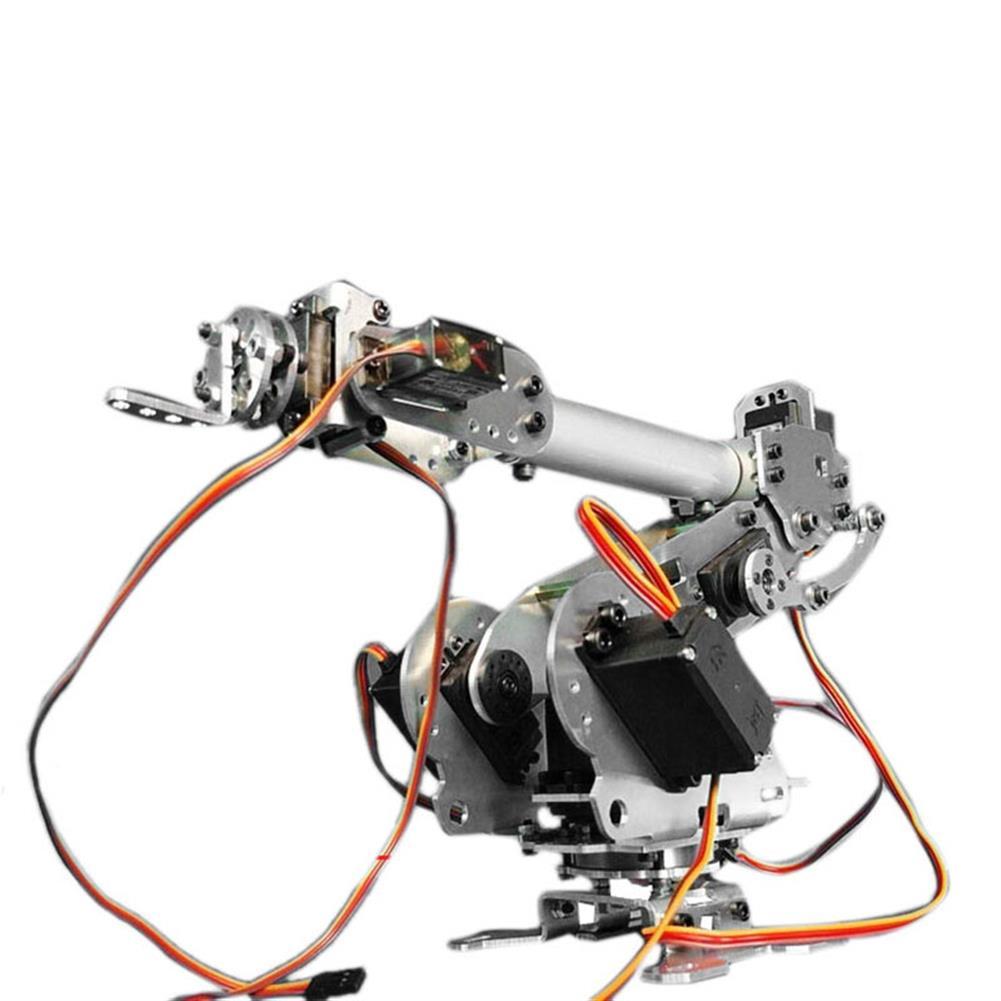 robot-arm-tank KDX DIY 6DOF Aluminum Robot Arm 6 Axis Rotating Mechanical Robot Arm Kit With Servos RC1284938 1