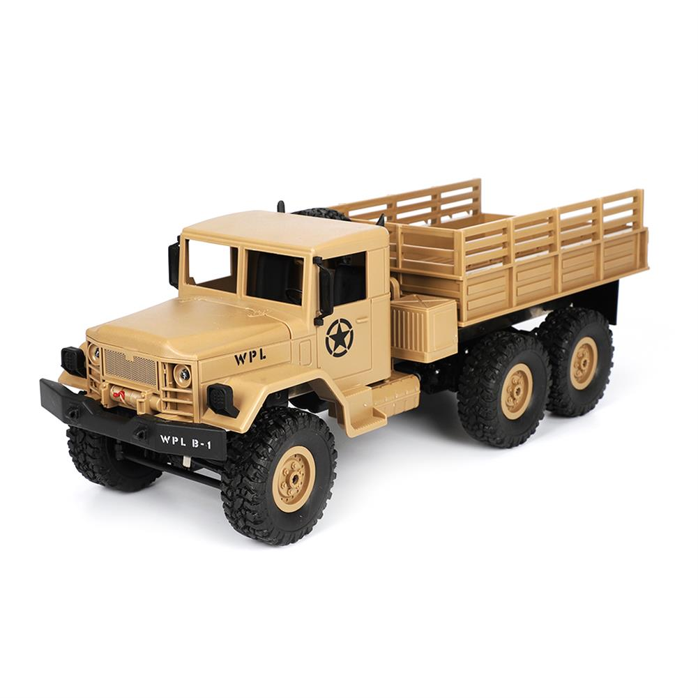 rc-cars WPL B16 1/16 2.4G 6WD Military Truck Crawler Off Road RC Car With Light RTR RC1291064