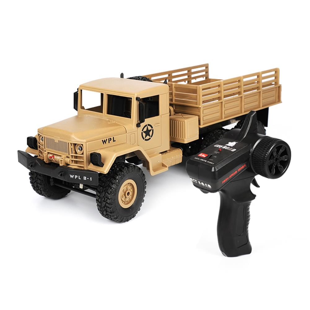 rc-cars WPL B16 1/16 2.4G 6WD Military Truck Crawler Off Road RC Car With Light RTR RC1291064 1