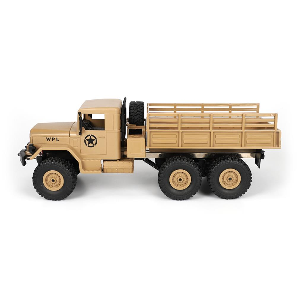 rc-cars WPL B16 1/16 2.4G 6WD Military Truck Crawler Off Road RC Car With Light RTR RC1291064 2