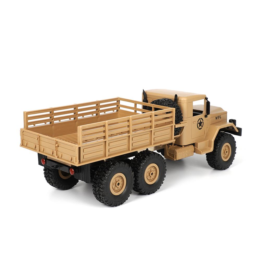 rc-cars WPL B16 1/16 2.4G 6WD Military Truck Crawler Off Road RC Car With Light RTR RC1291064 4
