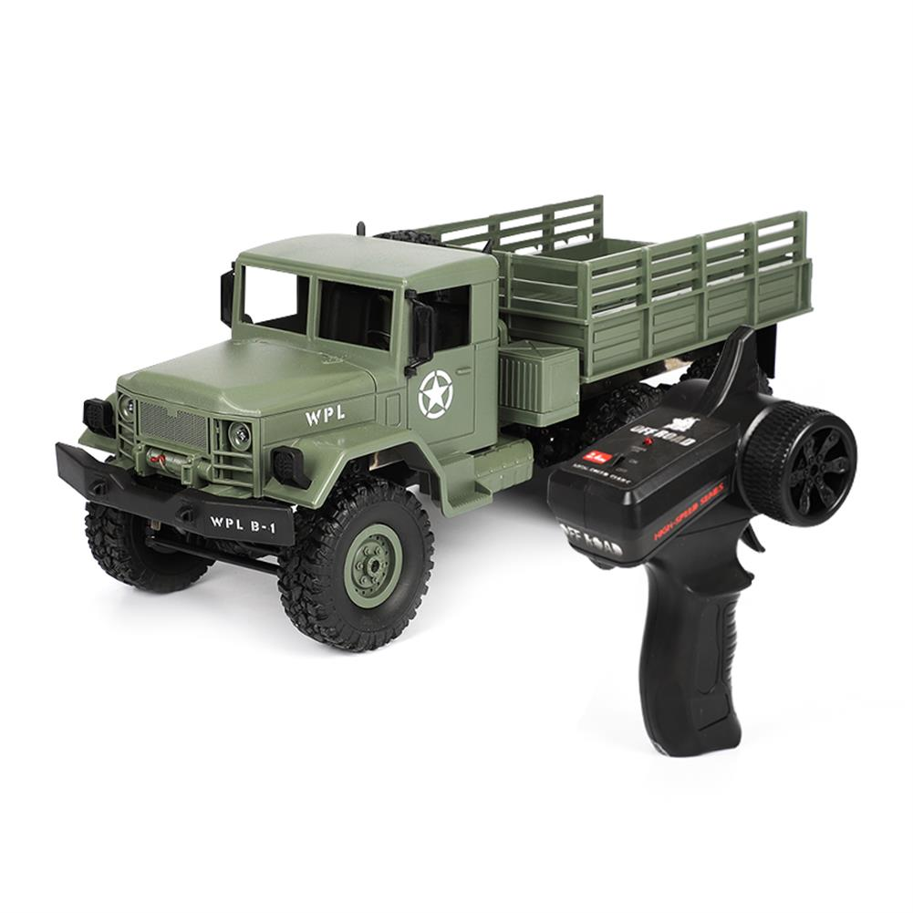 rc-cars WPL B16 1/16 2.4G 6WD Military Truck Crawler Off Road RC Car With Light RTR RC1291064 5