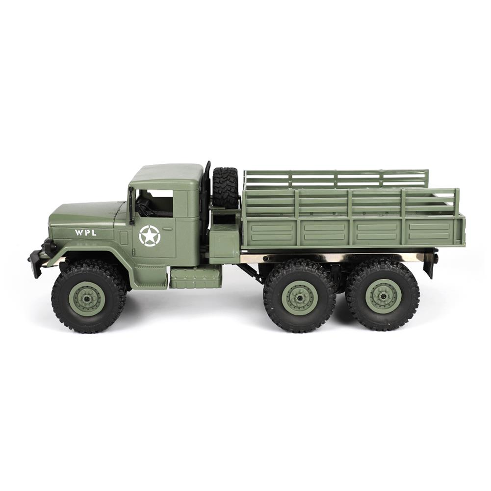 rc-cars WPL B16 1/16 2.4G 6WD Military Truck Crawler Off Road RC Car With Light RTR RC1291064 7
