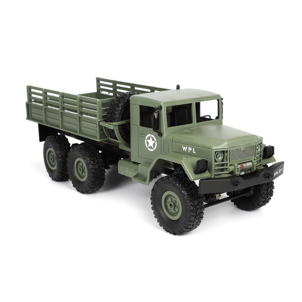 rc-cars WPL B16 1/16 2.4G 6WD Military Truck Crawler Off Road RC Car With Light RTR RC1291064 8