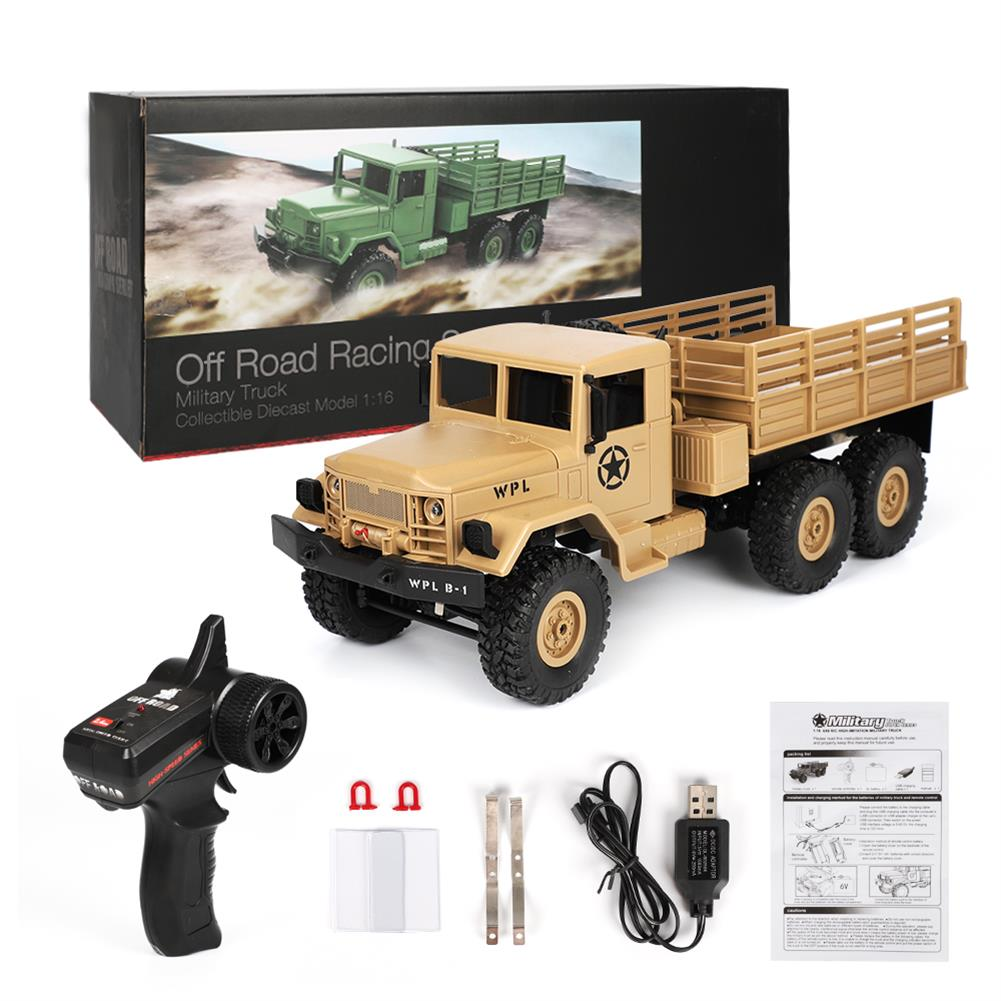 rc-cars WPL B16 1/16 2.4G 6WD Military Truck Crawler Off Road RC Car With Light RTR RC1291064 9