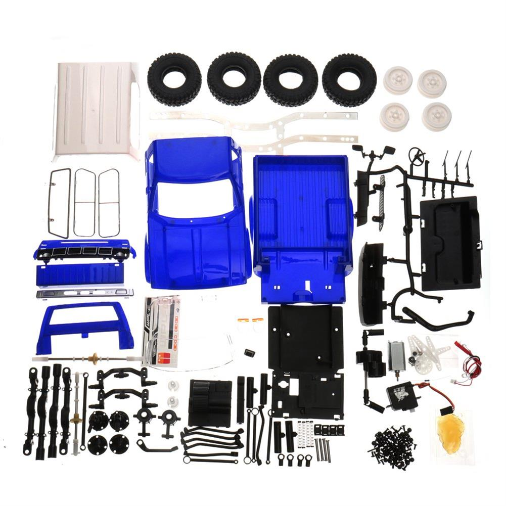 rc-cars WPL C24 1/16 Kit 4WD 2.4G Military Truck Buggy Crawler Off Road RC Car 2CH Toy RC1291830 7