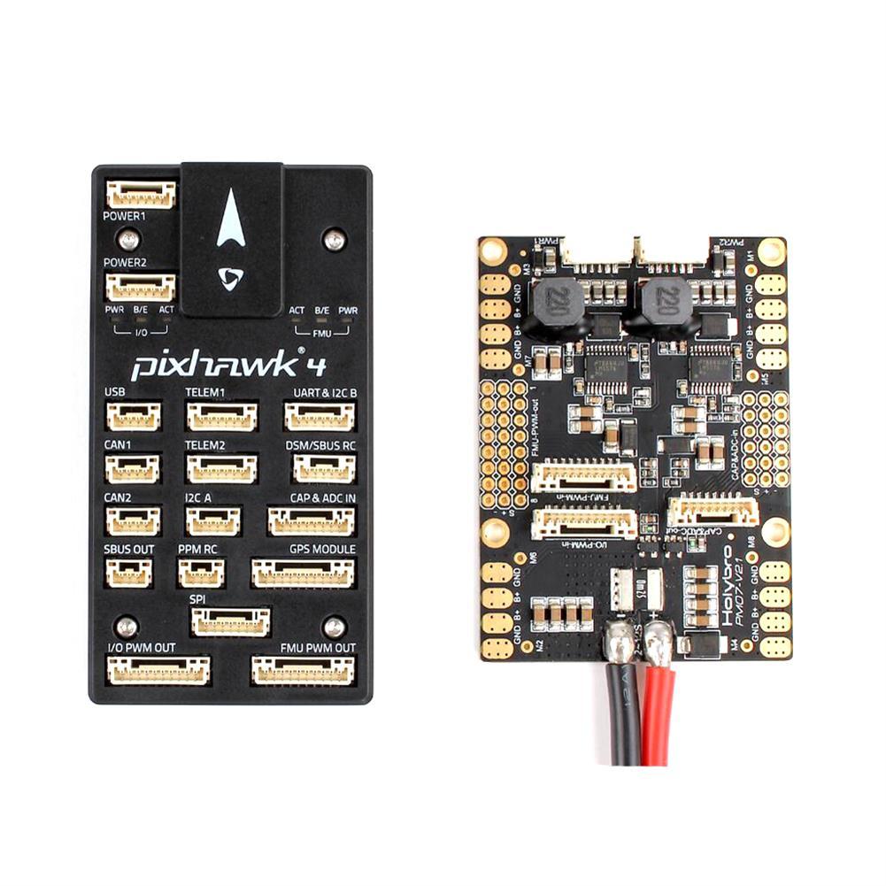 multi-rotor-parts Holybro Pixhawk 4 Flight Controller STM32F765 32 Bit ARM w/ PM07 Power Management 5V UBEC Output RC1302139