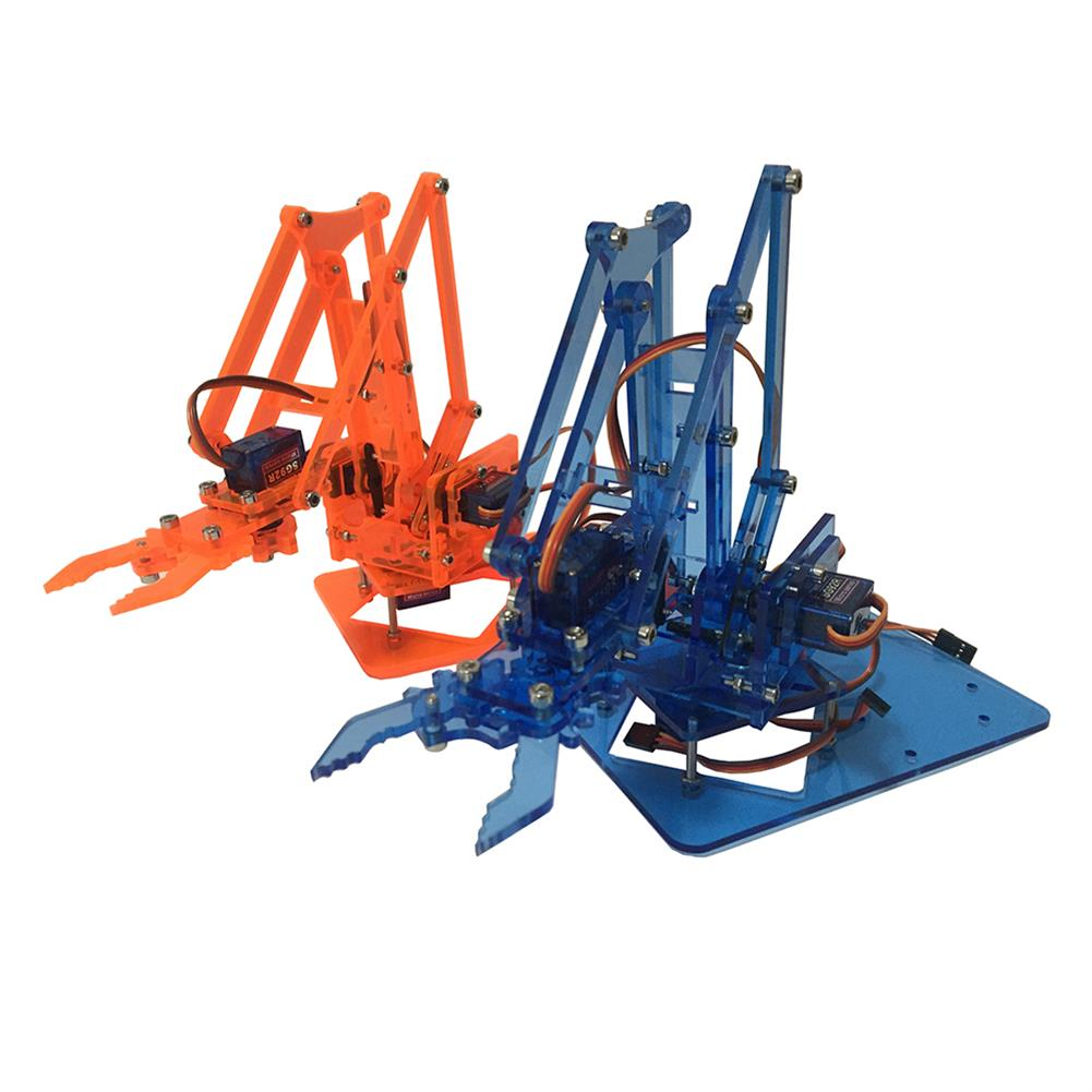 robot-arm-tank Mearm DIY Mini Colorful Industrial Robot Arm Rotating Mechanical Acrylic Pocket Robotic Arm RC1308700