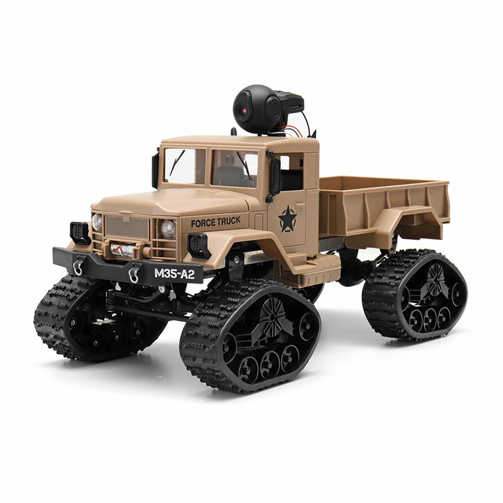 rc-cars Fayee FY001 1/16 2.4G 4WD Rc Car 720P 0.3MP WIFI FPV Brushed Off-road Military Truck W/ LED Light RC1318249