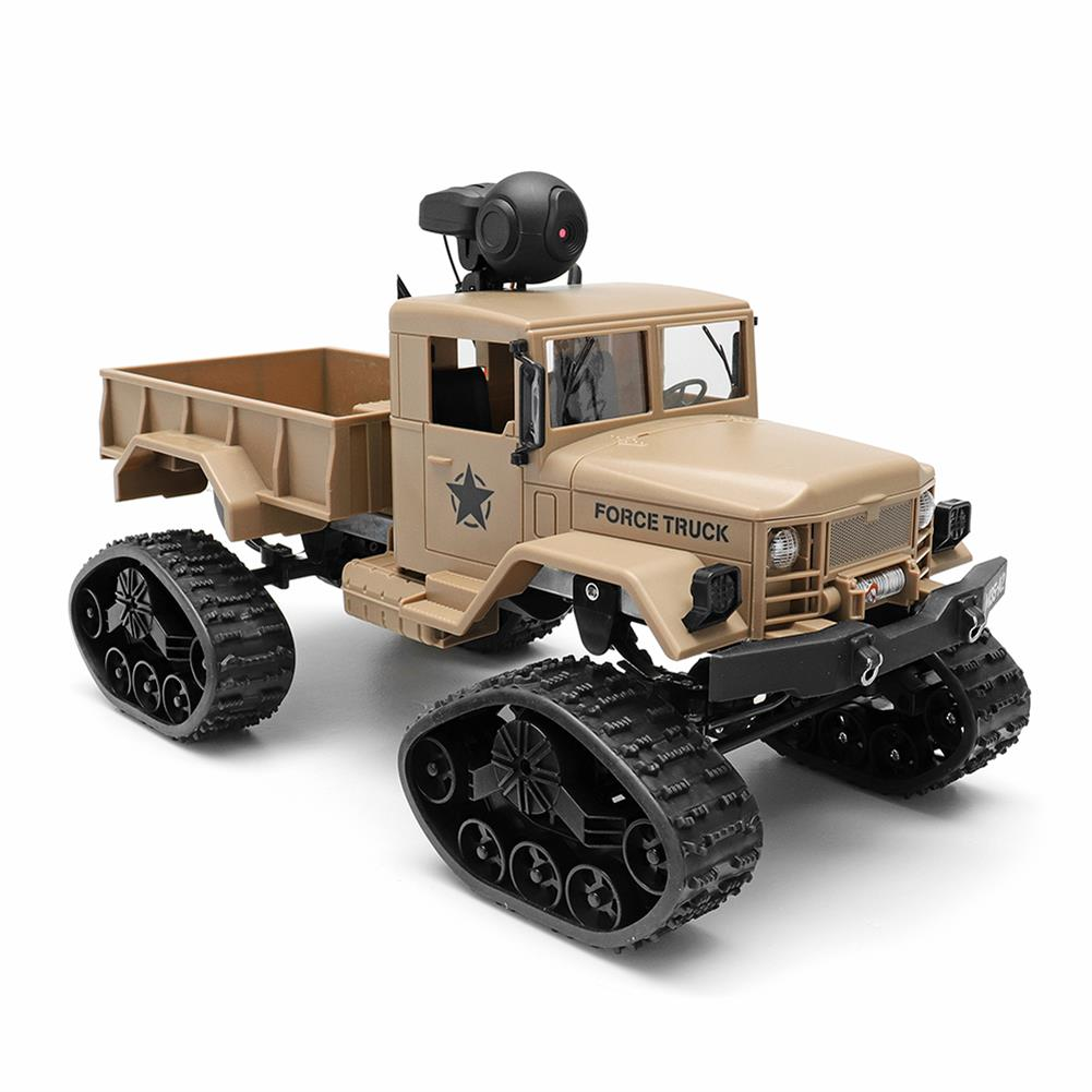 rc-cars Fayee FY001 1/16 2.4G 4WD Rc Car 720P 0.3MP WIFI FPV Brushed Off-road Military Truck W/ LED Light RC1318249 1
