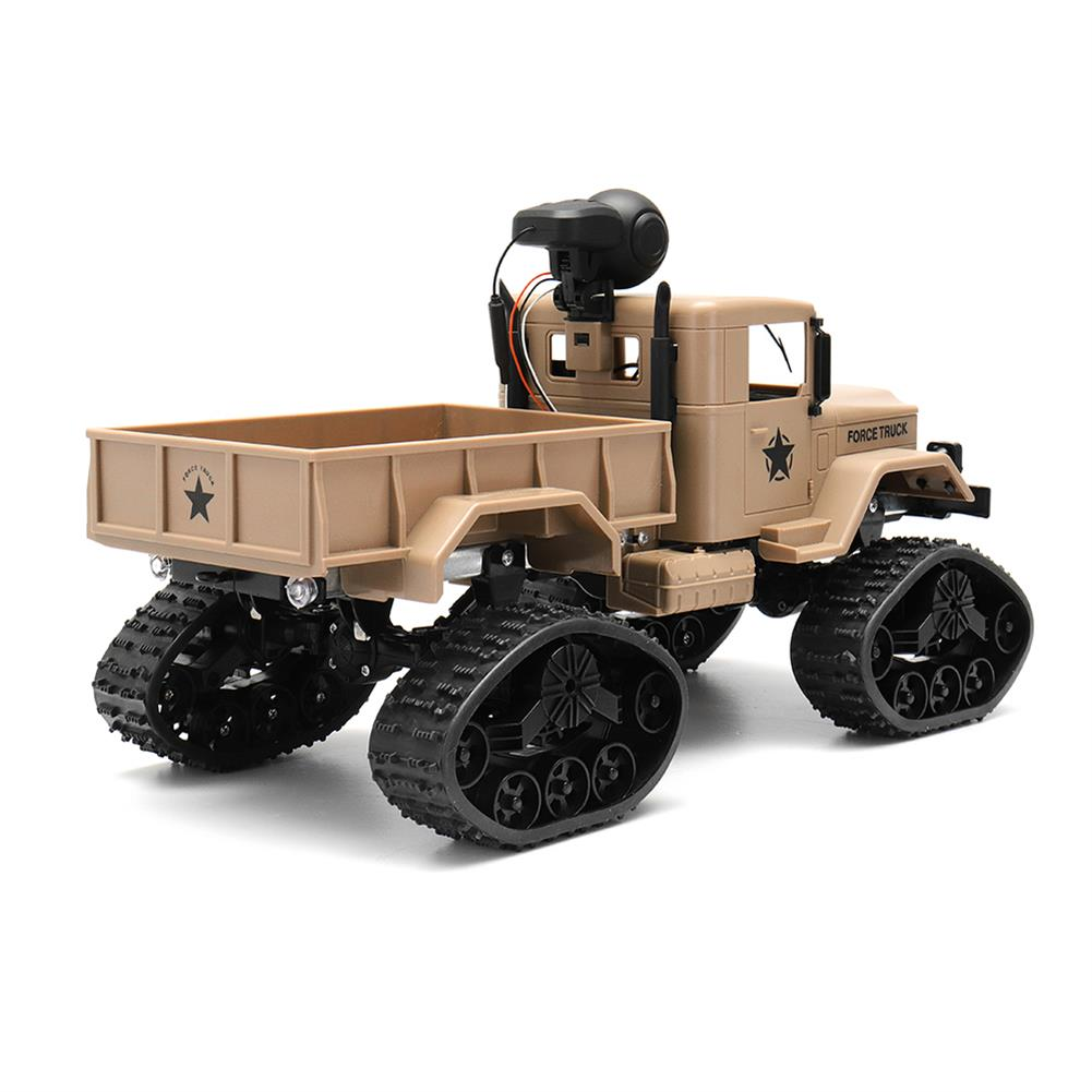 rc-cars Fayee FY001 1/16 2.4G 4WD Rc Car 720P 0.3MP WIFI FPV Brushed Off-road Military Truck W/ LED Light RC1318249 2