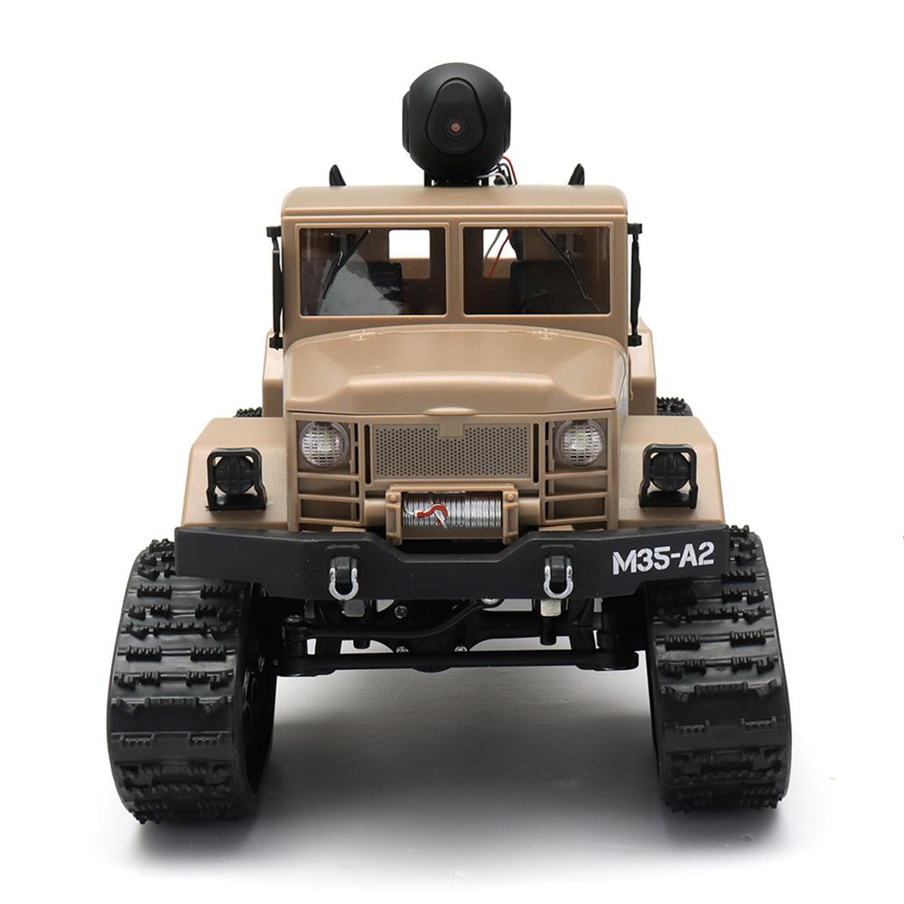 rc-cars Fayee FY001 1/16 2.4G 4WD Rc Car 720P 0.3MP WIFI FPV Brushed Off-road Military Truck W/ LED Light RC1318249 3