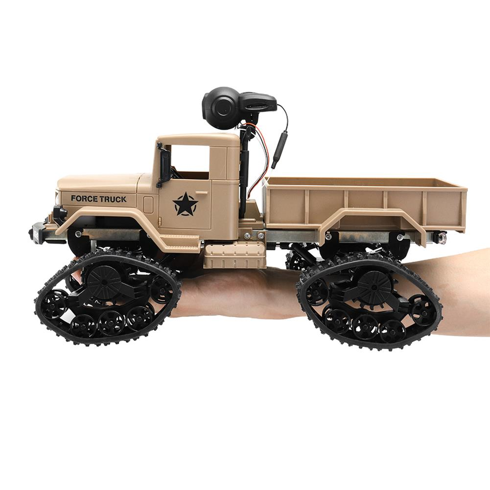 rc-cars Fayee FY001 1/16 2.4G 4WD Rc Car 720P 0.3MP WIFI FPV Brushed Off-road Military Truck W/ LED Light RC1318249 4