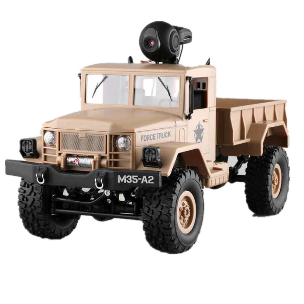 rc-cars Fayee FY001 1/16 2.4G 4WD Rc Car 720P 0.3MP WIFI FPV Brushed Off-road Military Truck W/ LED Light RC1318249 9
