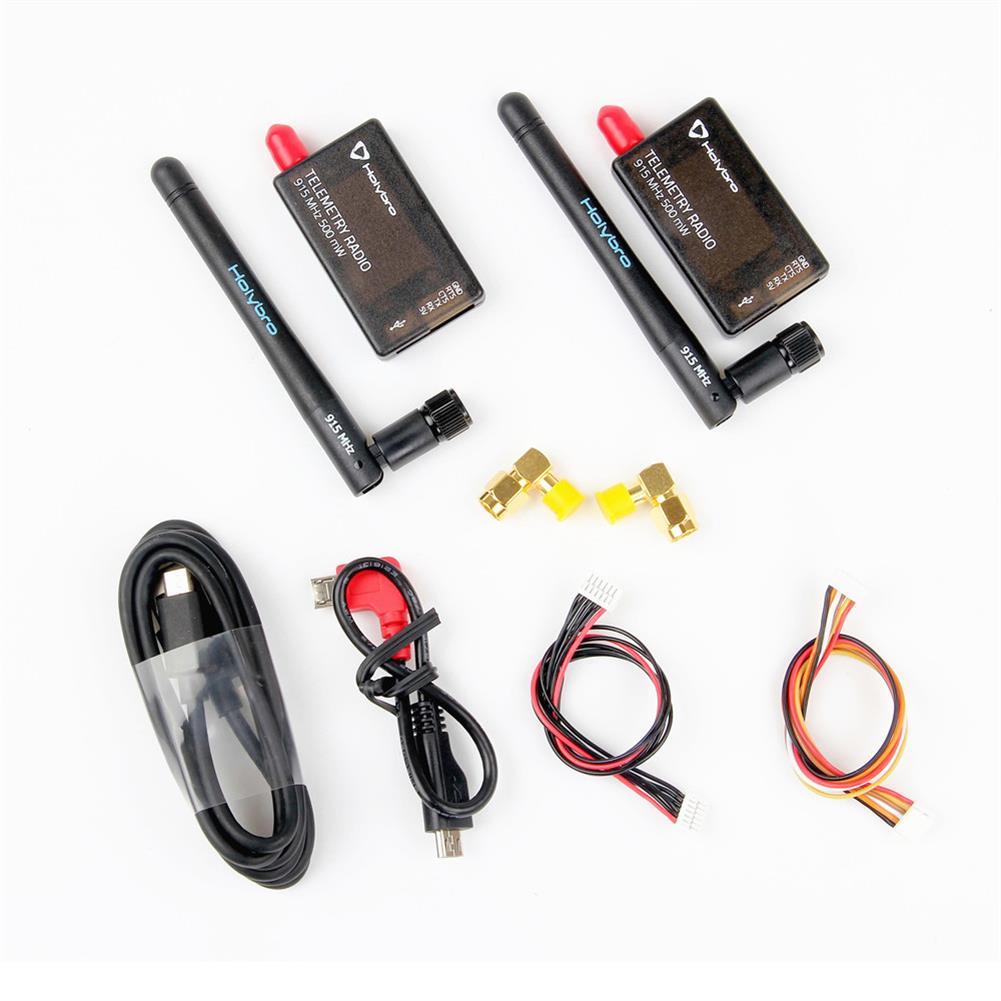 radios-receiver Holybro 433Mhz 915Mhz 500mW Transceiver Radio Telemetry Set V3 for PIXHawk 4 Flight Controller RC1325025