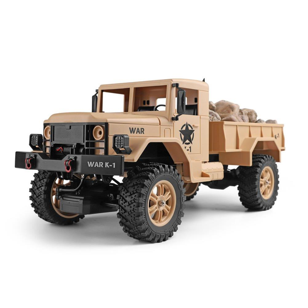 rc-cars Wltoys 124301 1/12 2.4G 4WD 45cm 390 Bruhed Rc Car 1.2kg Load Off-road Military Truck RTR Toy RC1326489