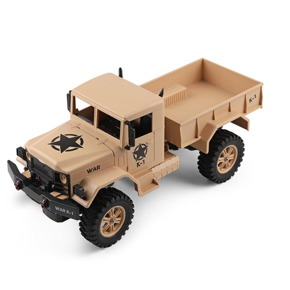 rc-cars Wltoys 124301 1/12 2.4G 4WD 45cm 390 Bruhed Rc Car 1.2kg Load Off-road Military Truck RTR Toy RC1326489 1